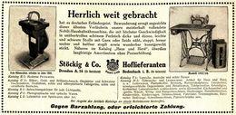 Original-Werbung/ Anzeige 1912 - NOBILI NÄHMASCHINEN / STÖCKIG & CO - DRESDEN / BODENBACH -  Ca. 180 X 80 Mm - Publicités