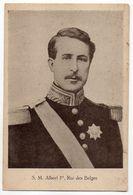 Famille Royale-- S.M Albert 1er ,roi Des Belges  ---verso Uni Blanc - Familles Royales