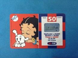 ITALIA SCHEDA TELEFONICA RICARICARD TIM USATA USED PHONE CARD - BETTY BOOP 50.000 LIRE 30M SCAD. GIU 2003 - Italy