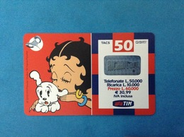 ITALIA SCHEDA TELEFONICA RICARICARD TIM USATA USED PHONE CARD - BETTY BOOP 50.000 LIRE 30M SCAD. LUG 2003 - Italy