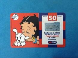 ITALIA SCHEDA TELEFONICA RICARICARD TIM USATA USED PHONE CARD - BETTY BOOP 50.000 LIRE 30M SCAD. SETT 2003 - Italy