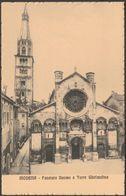 Facciata Duomo & Torre Ghirlandina, Modena, Italia, C.1910 - Giuliani Cartolina - Modena