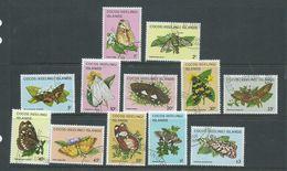Cocos Keeling Island 1982 Butterfly & Moths Definitive Part Set 12 FU - Cocos (Keeling) Islands