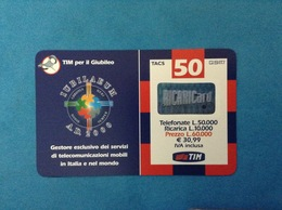 ITALIA SCHEDA TELEFONICA RICARICARD TIM USATA USED PHONE CARD - GIUBILEO 50.000 LIRE GM SCAD. DIC 2001 - Italy