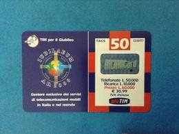 ITALIA SCHEDA TELEFONICA RICARICARD TIM USATA USED PHONE CARD - GIUBILEO 50.000 LIRE GP SCAD. FEBBRAIO 2002 - Italy