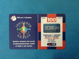 ITALIA SCHEDA TELEFONICA RICARICARD TIM USATA USED PHONE CARD - GIUBILEO 100.000 LIRE GP SCAD. FEBBRAIO 2002 - Italy