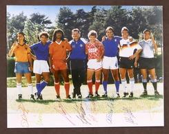 Calcio Fotografia Autografi Dunga Vialli Gullit Cabrini Sosa Mattheus FIFA 1990 - Autografi