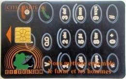 IVORY COAST - Telephone Dial, Chip Delphic, Used - Ivory Coast