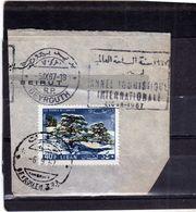 LIBANO LEBANON LIBAN 1965 AIR MAIL POSTA AEREA AERIENNE CEDARS CEDRES CEDRI 40p USATO USED OBLITERE' - Libano