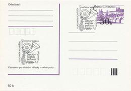 I0264 - Tschechoslowakei (1991) Praha 1: Postmuseum - Ausstellung: Vladimir Kovarik (Gemälde, Zeichnunge, Briefmarke) - Post