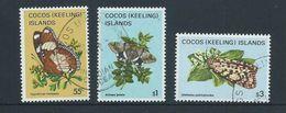 Cocos Keeling Island 1982 Butterfly & Moths 55c , $1 & $3 Definitives FU - Cocos (Keeling) Islands