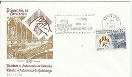 España. 1979. Proclamación Del Estatuto De Autonomía De Cataluña Y 50 Aniversario Del Sello De Recargo De La Exposición - FDC