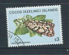 Cocos Keeling Island 1982 Butterfly & Moths $3 Definitive FU - Cocos (Keeling) Islands