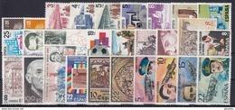 ESPAÑA 1980 Nº 2558/2598 AÑO NUEVO COMPLETO,29 SELLOS,2 HB,1 ENTRADA EXPOSICION - Spain