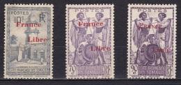 Cote Des Somalis N°208*,218*,220* - Nuevos