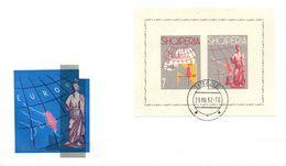 Albanien  FDC  Block 14  EUROPA 1962 - Albania