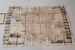 Ancienne Carte Routière De France Sur Soie - Dopter Editeur - Blanchard - Charle - Roadmaps