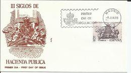 España. 1980. La Hacienda Pública Y Los Borbones Y Centenario De Helen Keller. - FDC