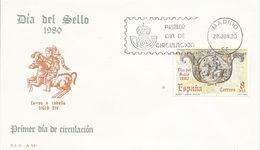 España. 1980. Día Del Sello Y 50º Aniversario De La Primera Exposición Filatélica Nacional. - FDC