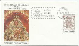 España. 1980. Nuestra Señora De Las Nieves Y Centenario Del Nacimiento De Ramón Pérez De Ayala. - FDC