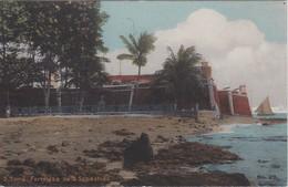 SAO TOME E PRINCIPE 1930 CARTE POSTALE FORTALEZA DE S.SEBASTIAO - Sao Tome And Principe