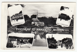 Sanski Most Old Postcard Travelled 1963 B180103 - Bosnia And Herzegovina