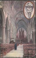 The Nave, Lincoln Cathedral, Lincolnshire, C.1905-10 - Tuck's Oilette Postcard - Lincoln