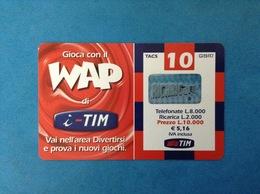 ITALIA SCHEDA TELEFONICA RICARICARD TIM USATA USED PHONE CARD - WAP 10.000 LIRE SCAD. LUG 2003 WAP-M - Italy