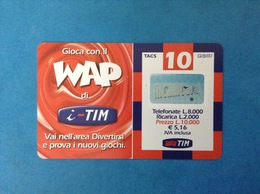 ITALIA SCHEDA TELEFONICA RICARICARD TIM USATA USED PHONE CARD - WAP 10.000 LIRE SCAD. LUG 2003 WAP-O - Italy