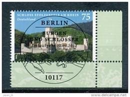 GERMANY Mi.Nr.  3049 Schloss Stolzenfels Am Rhein   -  ESST -BERLIN -Eckrand Unten Rechts- Used - BRD