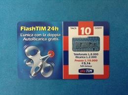 ITALIA SCHEDA TELEFONICA RICARICARD TIM USATA USED PHONE CARD - FLASHTIM 24H 10.000 LIRE SCAD. GIU 2003 FT-P - Italy