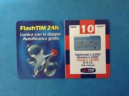 ITALIA SCHEDA TELEFONICA RICARICARD TIM USATA USED PHONE CARD - FLASHTIM 24H 10.000 LIRE SCAD. LUG 2003 FT-M - Italy