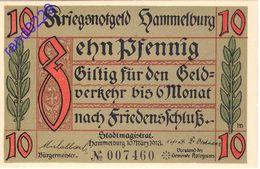 Deutschland Notgeld 10 Pfennig Tieste2785.10.3 KN * Wz.ohne HAMMELBURG /03M/ - [11] Local Banknote Issues