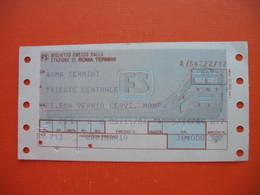 ROMA TERMINI-TRIESTE CENTRALE FS - Spoorwegen
