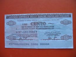 100 Lire BANCA POPOLARE DI BOLZANO-VOLKSBANK BOZEN - [ 2] 1946-… : Républic