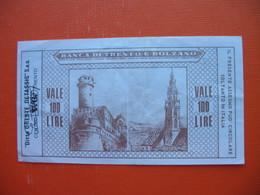 100 Lire BANCA DI TRENTO E  BOLZANO - [ 2] 1946-… : Republiek