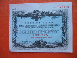 175 LIRE.MINISTERO PER I BENI CULTURALI E AMBIENTALI - [ 2] 1946-… : Républic