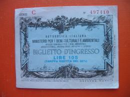 105 LIRE.MINISTERO PER I BENI CULTURALI E AMBIENTALI - [ 2] 1946-… : Republiek