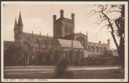 North Front, Chester Cathedral, Cheshire, C.1930 - Walter Scott Postcard - Chester