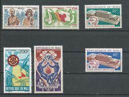 MALI  Scott 131-132, 134-135, C103, C104 Yvert 133-134, 135-136, PA103, PA104 (6) ** Cote 7,75$ 1970 - Mali (1959-...)