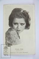 Old Cinema/ Movie Advertising Postcard - Actress: Clara Bow - Femmes Célèbres