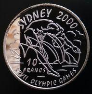 "Congo Democratic Republic 10 Francs 1999 SILVER PROOF ""Sydney 2000"" Free Shipping Via Registered Air Mail - Congo (República Democrática 1998)"