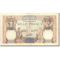 France, 1000 Francs, 1 000 F 1927-1940 ''Cérès Et Mercure'', 1940, 1940-07-18 - 1871-1952 Circulated During XXth