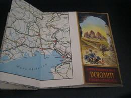 CARTINA TURISTICA DELLE DOLOMITI - Dépliants Turistici