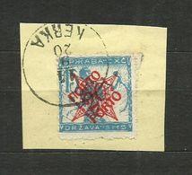 1919 S.H.S.YUGOSLAVIA -  SLOVENIA - VERIGARJI -  15vin./20vin Used.KERKA - 1919-1929 Regno Dei Serbi, Croati E Sloveni