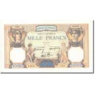 France, 1000 Francs, 1 000 F 1927-1940 ''Cérès Et Mercure'', 1938, 1938-08-04 - 1871-1952 Circulated During XXth