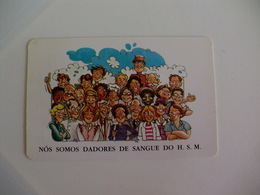 Blood Donors Donneurs De Sang Dadores De Sangue Hospital De Santa Maria Portugal  Portuguese Pocket Calendar 1993 - Calendars