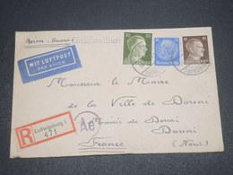 ALLEMAGNE - Enveloppe En Recommandé De Ludwigsburg Pour La France En 1943  Par Avion - L 12529 - Allemagne