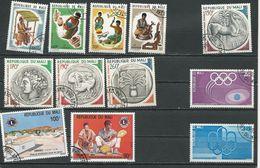 MALI  Scott 221-4, 244-7, 232-3, C262-3 Yvert 227-0, 246-9, 234-5, PA256-7 (12) O Cote 7,00$ 1974-5 - Mali (1959-...)