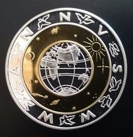 """ANDORRA 5 DINERS 1999 SILVER PROOF """"Millennium"""" (free Shipping Via Registered Air Mail.) - Andorra"""